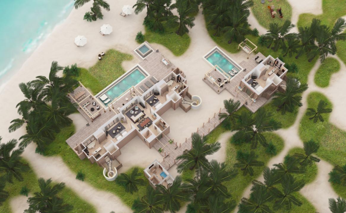 3 Bedroom Beach Villa with 2 Pools