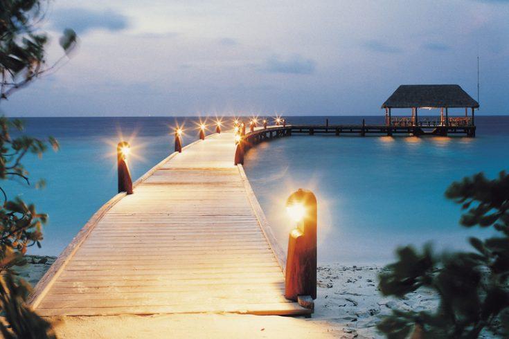 Cocoa Island - Resort - Arrival Jetty at Night