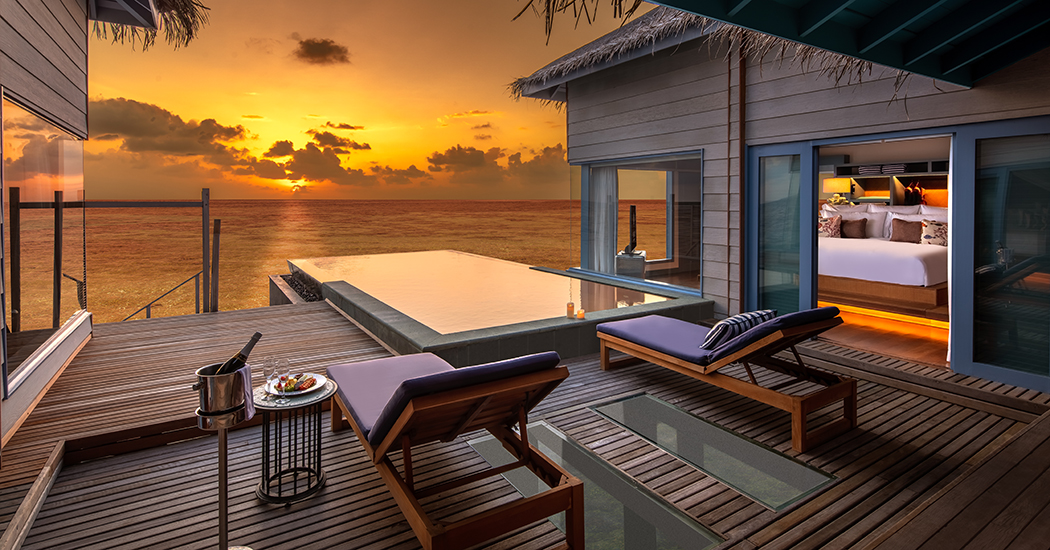 Sunset Overwater Residence with Pool