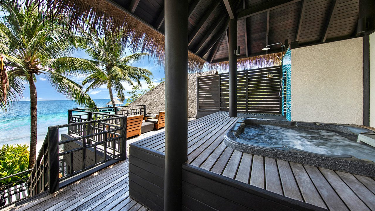 Beach Villa with Private Pool and Hot Tub