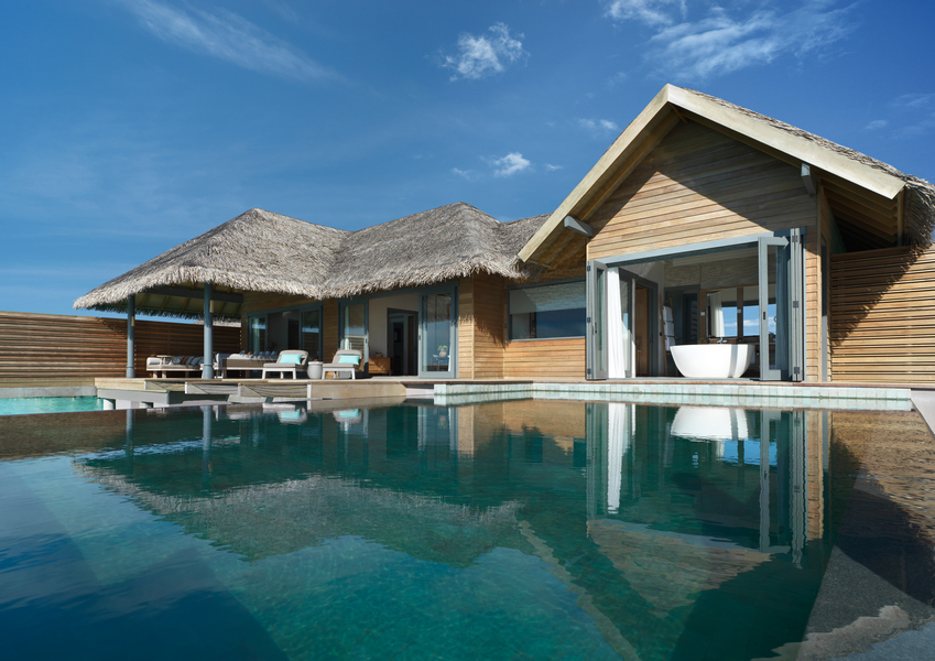 Over Water Pool Retreat