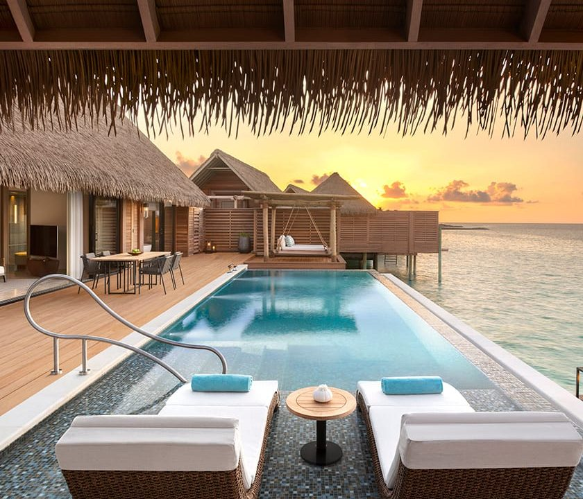 TWO QUEEN BEDDED OVERWATER VILLA WITH POOL