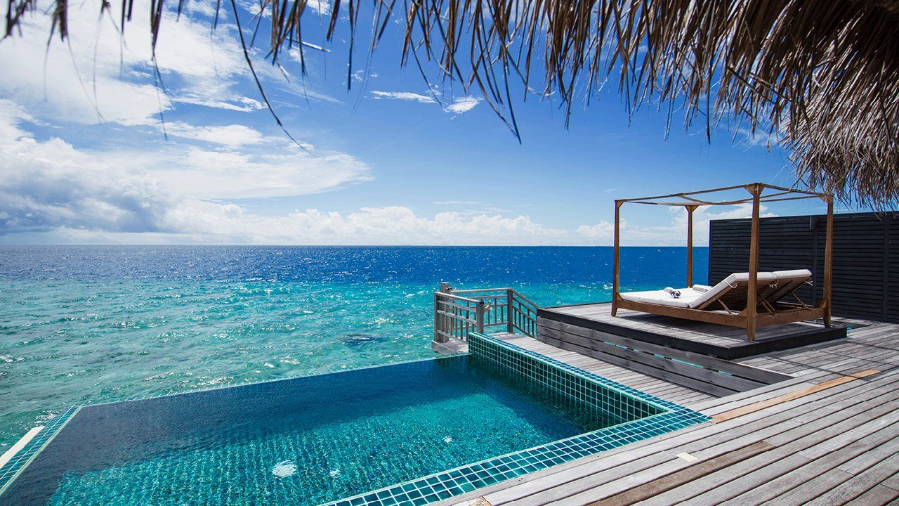 Sunset Overwater Villa with Private Pool