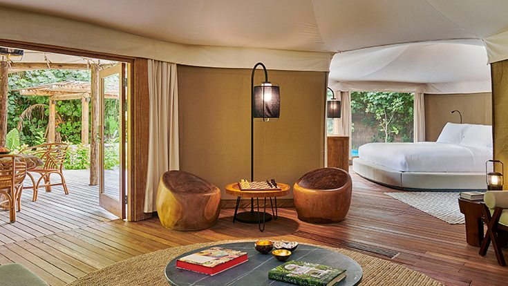 Luxury Tented Jungle Interior